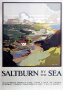 Saltburn, The Cat Nab, Yorkshire. LNER Vintage Travel Poster by Frank Henry Mason